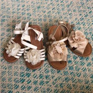 2 Pairs Girls Spring/Summer Sandals Sz 10